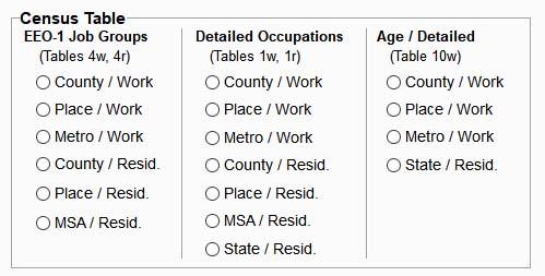 EEOSTAT Census Table
